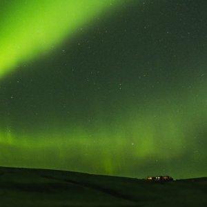 Aurora boreale a capodanno, in Islanda
