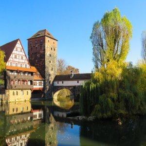 Centro storico di Norimberga con hotel