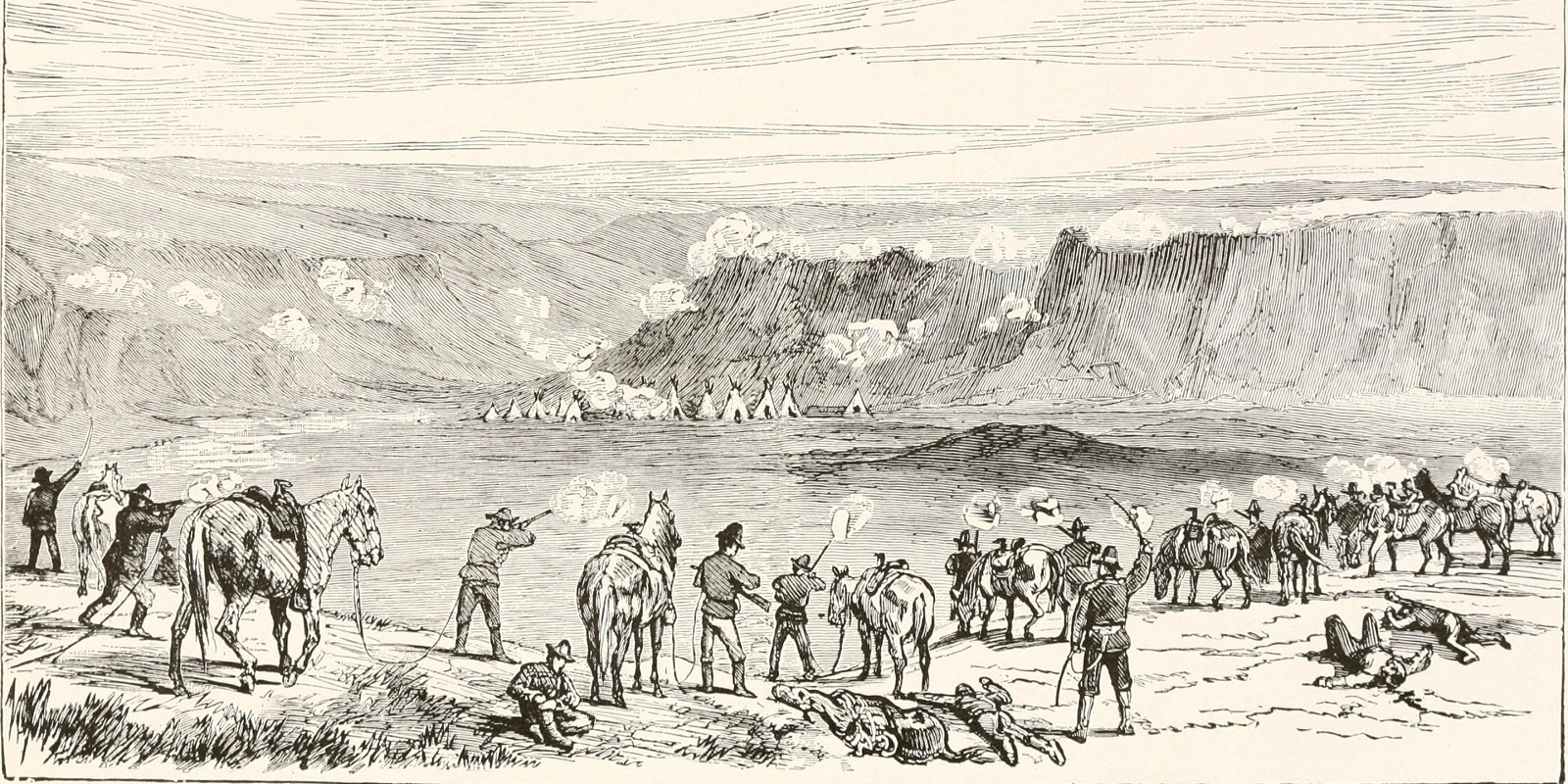 Battaglia nell'Idaho fra indiani e esercito americano