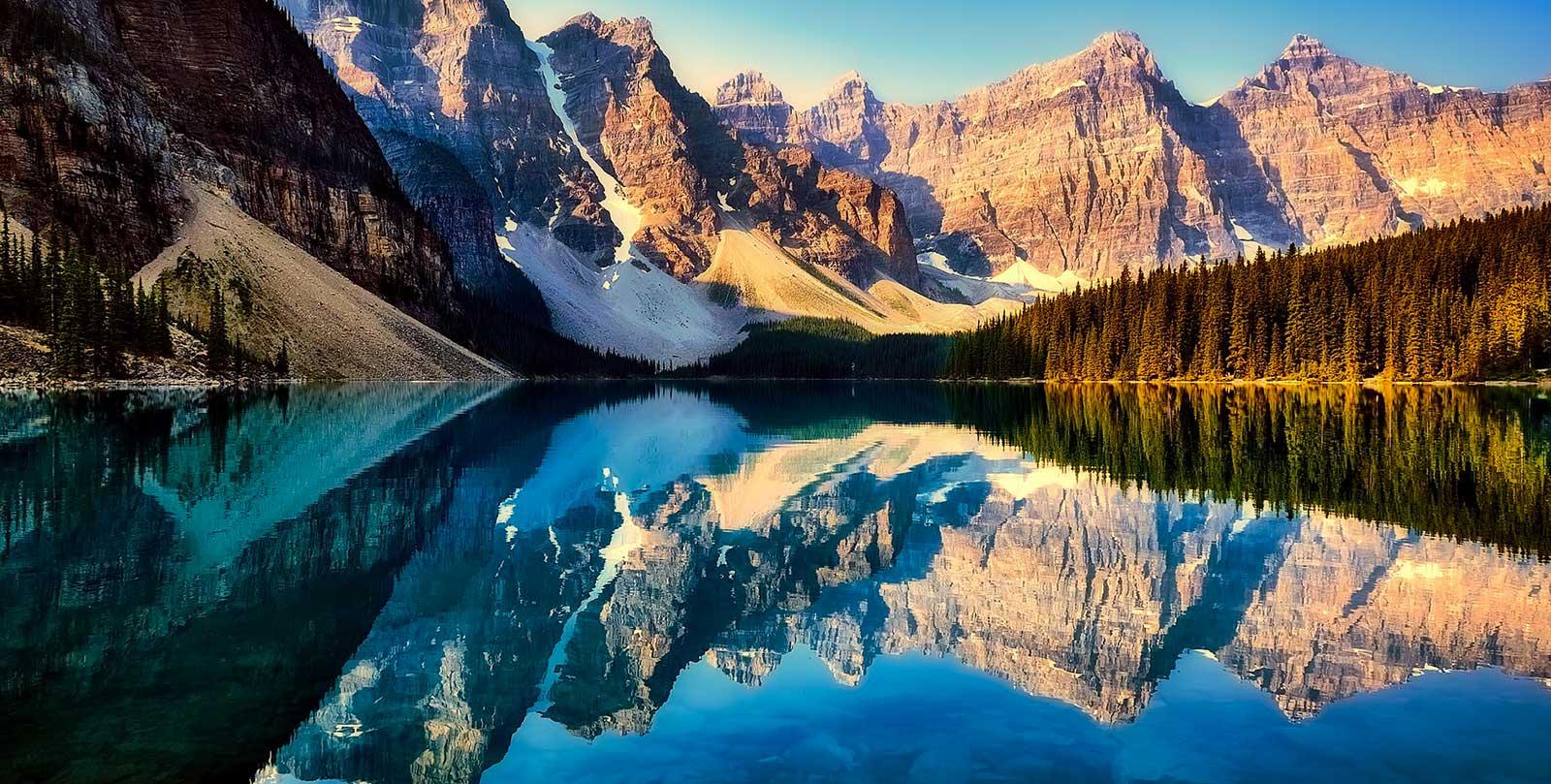 lago di moraine canada